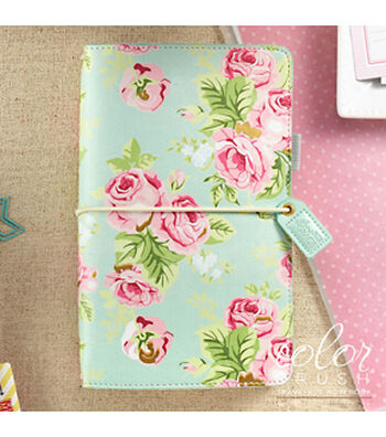 Webster's Pages Color Crush Travelers Notebook-Mint Floral