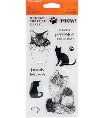 Fiskars Clear Stamps-Friends Forever