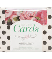 American Crafts Maggie Holmes 40 pk A2 Boxed Cards & Envelopes-Open Book, , hi-res