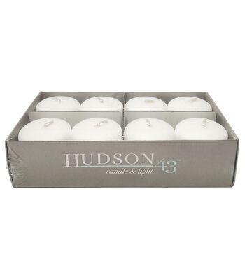"Hudson 43™ Candle & Light Collection 8pk 2"" Unscented Pillar Candles-White"