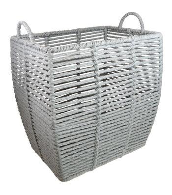 Grey Basket with Circle Handles