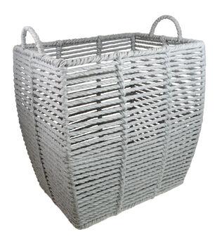 Basket with Circle Handles-Gray