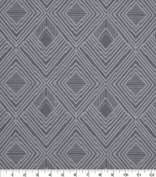Wide Flannel Fabric-Gray Modern Diamond