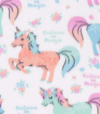 Blizzard Fleece Fabric -Belive in Magic Unicorn