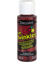 DecoArt Craft Twinkles 2 fl. oz. Brush-on Glitter Paint-Christmas Red, , hi-res