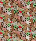 Christmas Cotton Fabric-Glitter Cookies