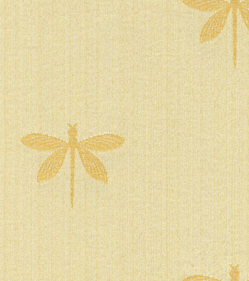 "Swavelle Millcreek Multi-Purpose Decor Fabric 54""- Imperial Dragonfly Gold"