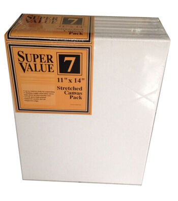 "Stretched Canvas Super Value Pack 11""x14"""