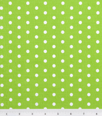 Tutti Fruitti Fabric -Polka Dot Lime and White