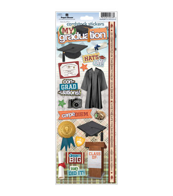 Paper House 6 pk Cardstock Stickers-My Graduation
