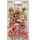 49 And Market Vintage Shades Cluster 13 pk Flowers-Cerise