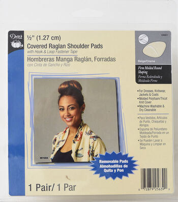 "Dritz 1/2"" Covered Raglan Shoulder Pads"