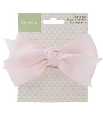 Simplicity Large Grosgrain Bow-Light Pink