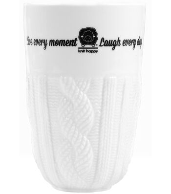 K1C2 Knit Happy 13 oz. Cable Knit Clay Tumbler