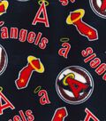 Los Angeles Angels Fleece Fabric-Cooperstown