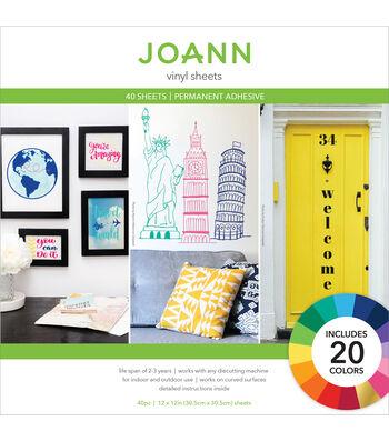 Joann Sheet Solid Vinyl Pack