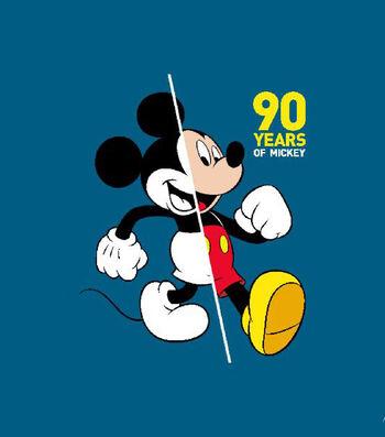 Disney No Sew Fleece Throw-90 Years of Mickey Mouse