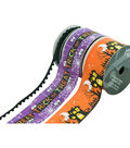 Cascade Whimsy Halloween 3 pk Ribbons-Trick or Treat, Pom Pom & Haunted