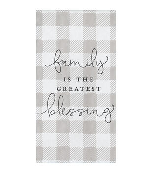 Simply Spring Guest Napkins-Family is the Greatest Blessing on Plaid