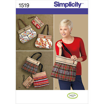 Simplicity Pattern 1519OS One Size -Crafts Accessories