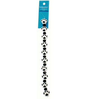 hildie & jo 7'' Paw Shaped Strung Beads-White & Black