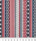 Patriotic Cotton Fabric -Faded Glory Flag