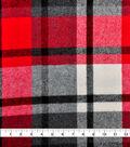Plaiditudes Brushed Cotton Fabric 44\u0027\u0027-Orange, Navy & White Grid Check