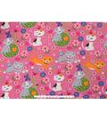Blizzard Fleece Fabric -Spring Kitty