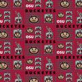 Ohio State University Buckeyes Cotton Fabric -Logo Patch