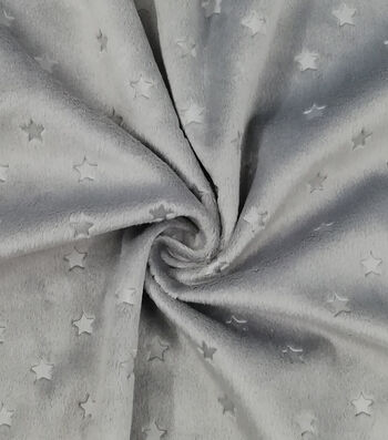 Soft & Minky Fleece Fabric -Stars
