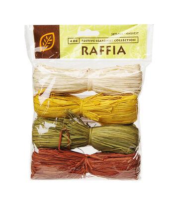 Darice 4 pk 4 oz. Raffia Strands-Harvest