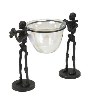 Maker's Halloween Skeletons Carrying Serving Bowl