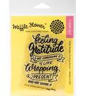 Waffle Flower Crafts Clear Stamp 3\u0027\u0027x4\u0027\u0027-Feeling Gratitude