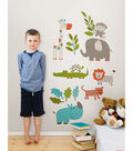 Wall Pops Let\u0027s Go on Safari Wall Art Decal Kit, 24 Piece Set