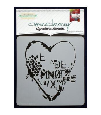 Donna Downey Signature 8.5''x8.5'' Stencil-Heart Texture