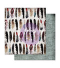 Prima Marketing Midnight Garden Double-sided Cardstock-Feather Collector