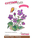CottageCutz Stamp & Die Set-Violets-February