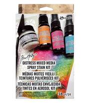 Tim Holtz Distress 18 Pack Mixed Media Spray Stain Kit, , hi-res