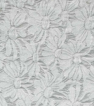 Sew Sweet Daisy Floral Brocade Fabric 57''-Silver
