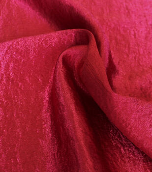 Casa Collection Crushed Satin Fabric 54''-Tango Red