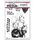Ranger Dina Wakley Media Cling Stamps-Friends to the End