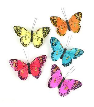 """Midwest Designs 5"""" Monarch Butterflies 5pcs"""