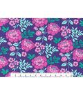 Keepsake Calico Cotton Fabric -Large Floral Purple