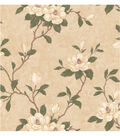 Lilith Beige Floral Branch Wallpaper Sample