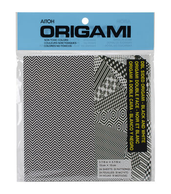 Aitoh Black/White Origami Paper 24/Pkg