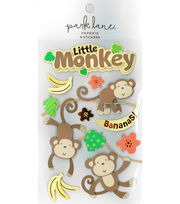 Park Lane Paperie 9 pk Stickers-Little Baby Monkeys, , hi-res
