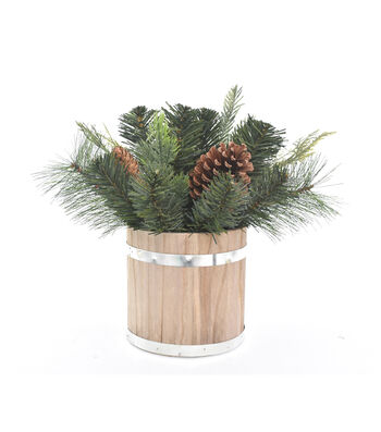 Blooming Holiday Christmas 12'' Pine & Pinecone Arrangement