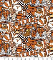 University of Texas Longhorns Cotton Fabric-Pop Art, , hi-res
