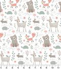 Nursery Flannel Fabric -Woodland Animals