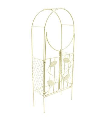 Midwest Design Mini Garden Cream Iron Arch With Gate